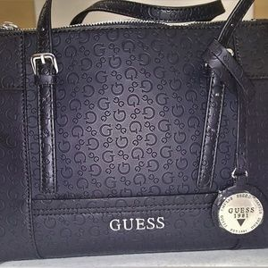 Guess By Marciano Initial Embossed Satchel